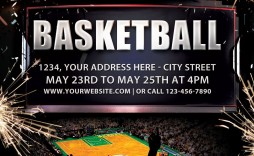 003 Beautiful Basketball Flyer Template Free Photo  Camp Brochure 3 On Tournament