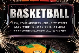003 Beautiful Basketball Flyer Template Free Photo  Brochure Tryout Camp