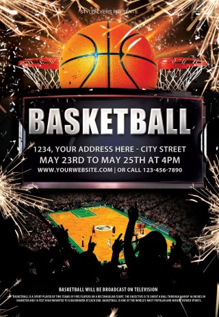 003 Beautiful Basketball Flyer Template Free Photo  Brochure Tryout Camp320