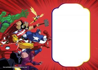 003 Beautiful Editable Superhero Invitation Template Free Image 320