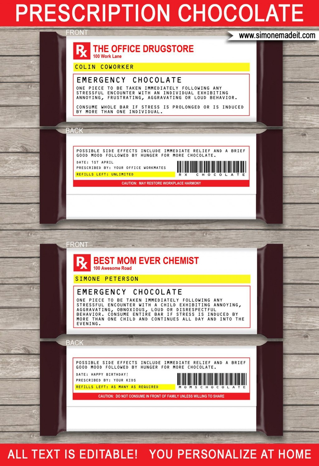 003 Beautiful Fake Prescription Label Template Example  Free BottleLarge