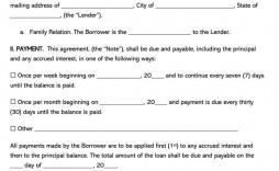 003 Beautiful Family Loan Agreement Template Canada Idea
