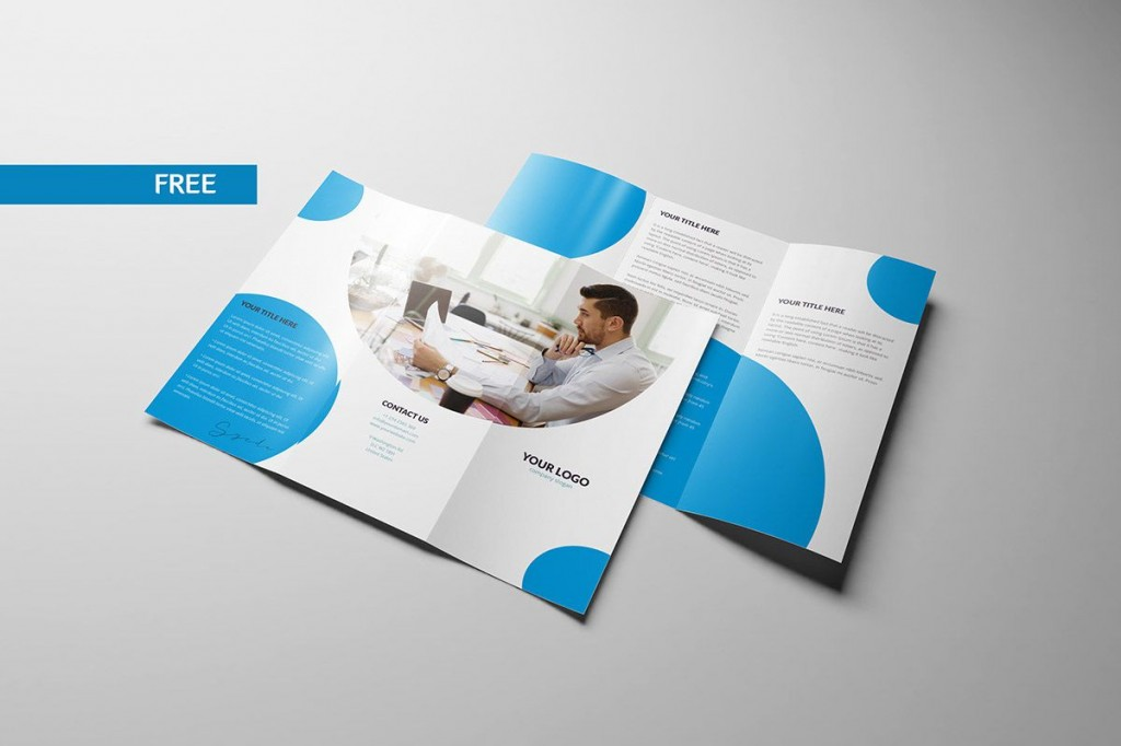 003 Beautiful Free Tri Fold Brochure Template Photo  Photoshop Illustrator Microsoft Word 2010Large