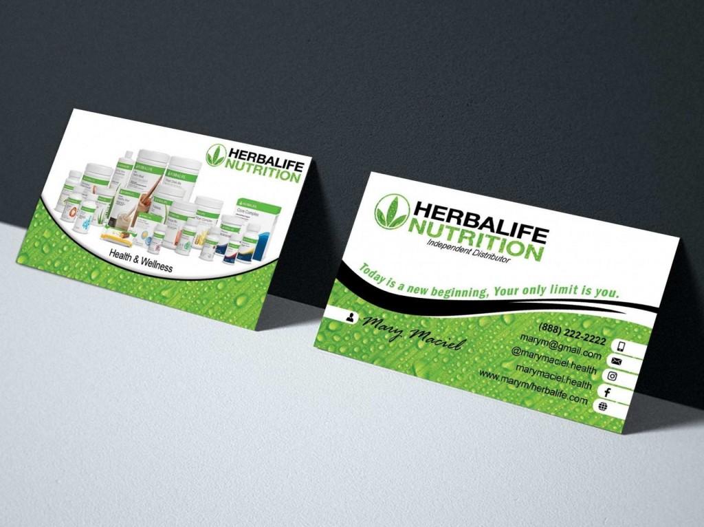 003 Beautiful Herbalife Busines Card Template Example  Download FreeLarge