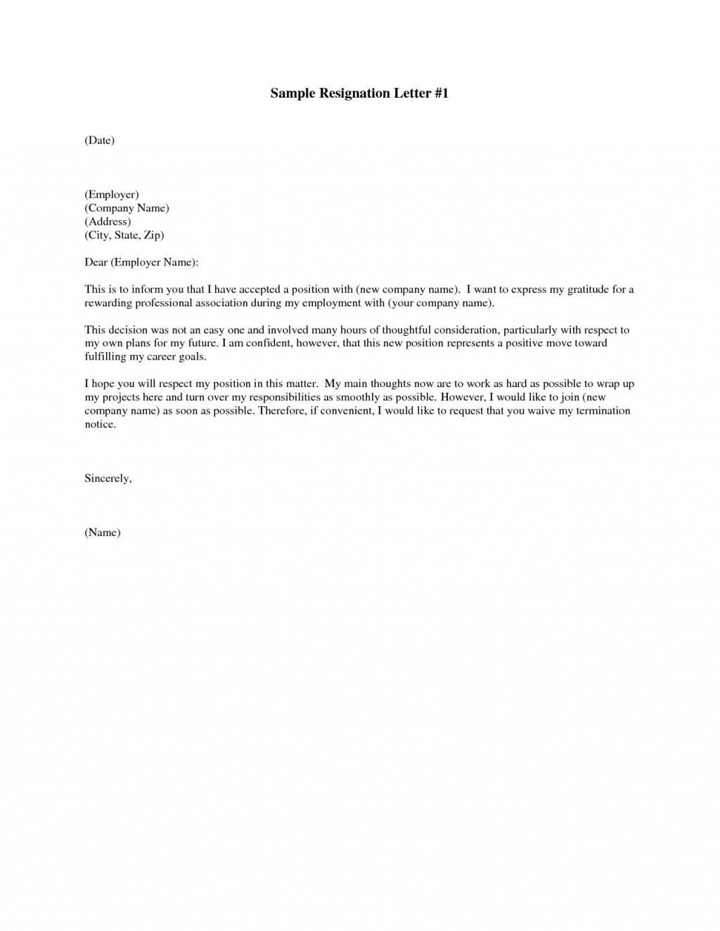 003 Beautiful Letter Of Resignation Template Free Picture  Pdf SampleLarge