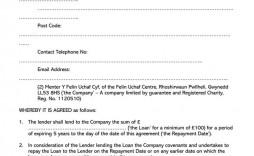 003 Beautiful Loan Agreement Template Free High Def  Word Nz Family Uk
