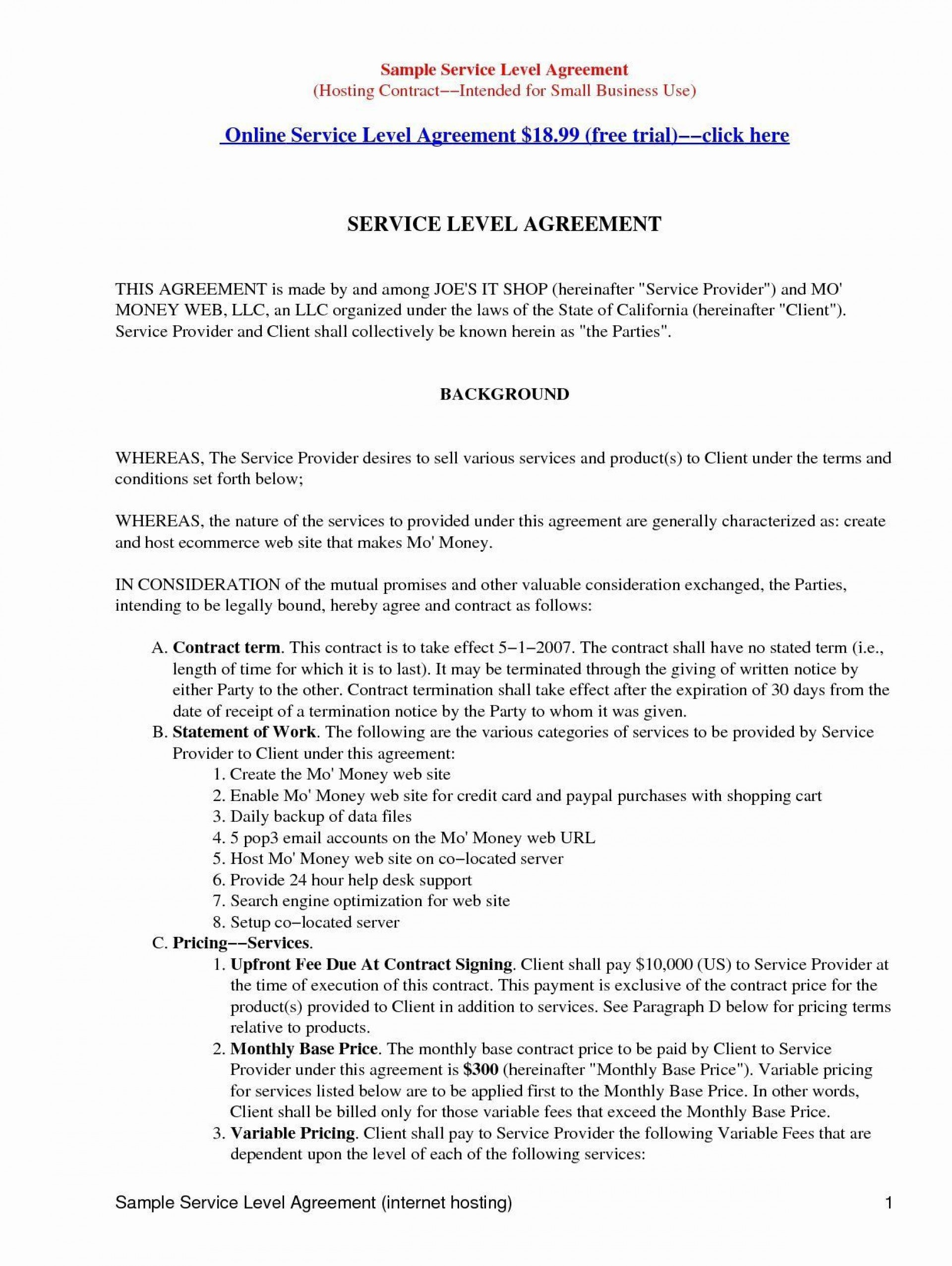003 Beautiful Master Service Agreement Template High Resolution  Marketing For Software Development1920