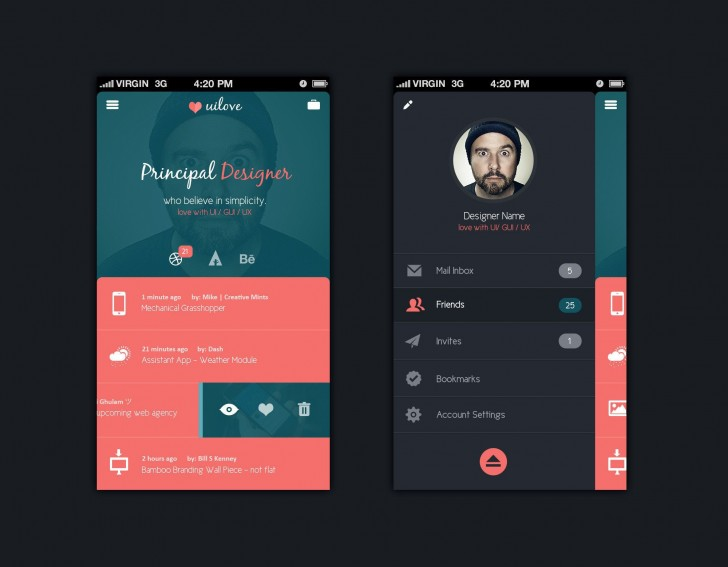 003 Beautiful Mobile App Design Template Highest Clarity  Size Adobe Xd Ui Psd Free Download728