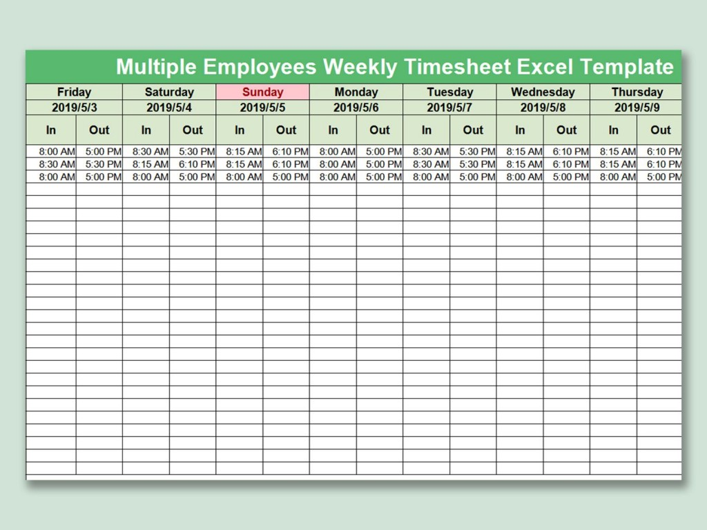 003 Beautiful Multiple Employee Time Card Template Inspiration Large