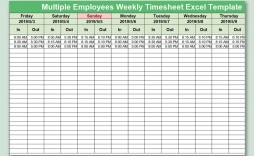 003 Beautiful Multiple Employee Time Card Template Inspiration