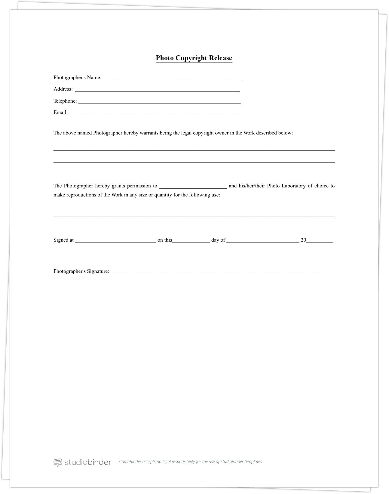 003 Beautiful Photo Release Form Template Concept  Video Consent Australia Free AndFull
