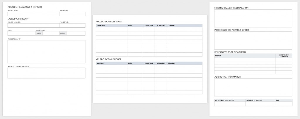 003 Beautiful Project Report Template Word Concept  Statu Free Download 2013Large