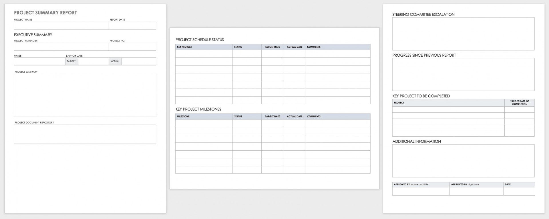 003 Beautiful Project Report Template Word Concept  Statu Free Download 20131920