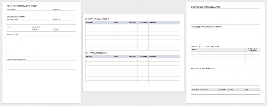 003 Beautiful Project Report Template Word Concept  Pmegp Format 2013 Completion In