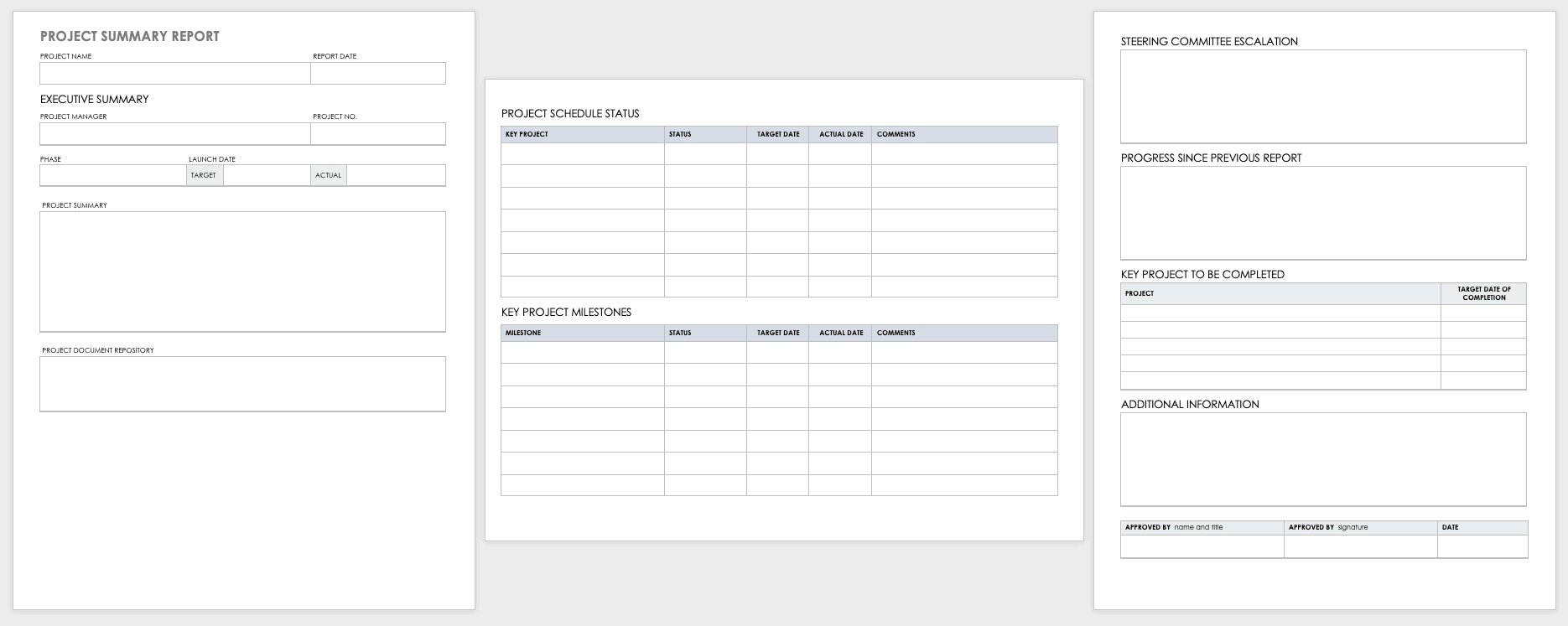 003 Beautiful Project Report Template Word Concept  Statu Free Download 2013Full