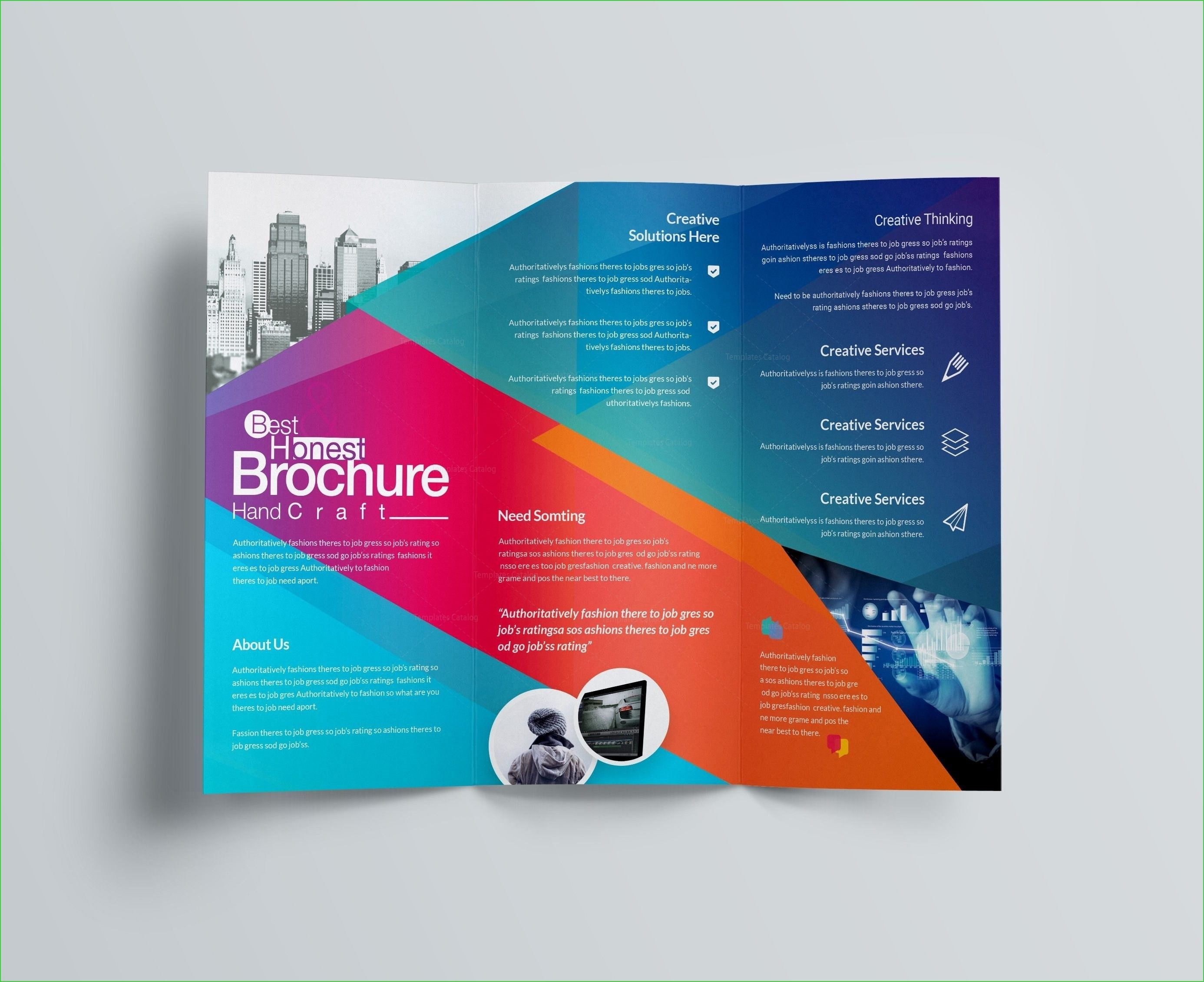 003 Beautiful Publisher Brochure Template Free Photo  Microsoft Download Tri FoldFull