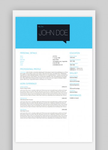 003 Beautiful Single Page Resume Template High Definition  Cascade One Free Download Word For Fresher360