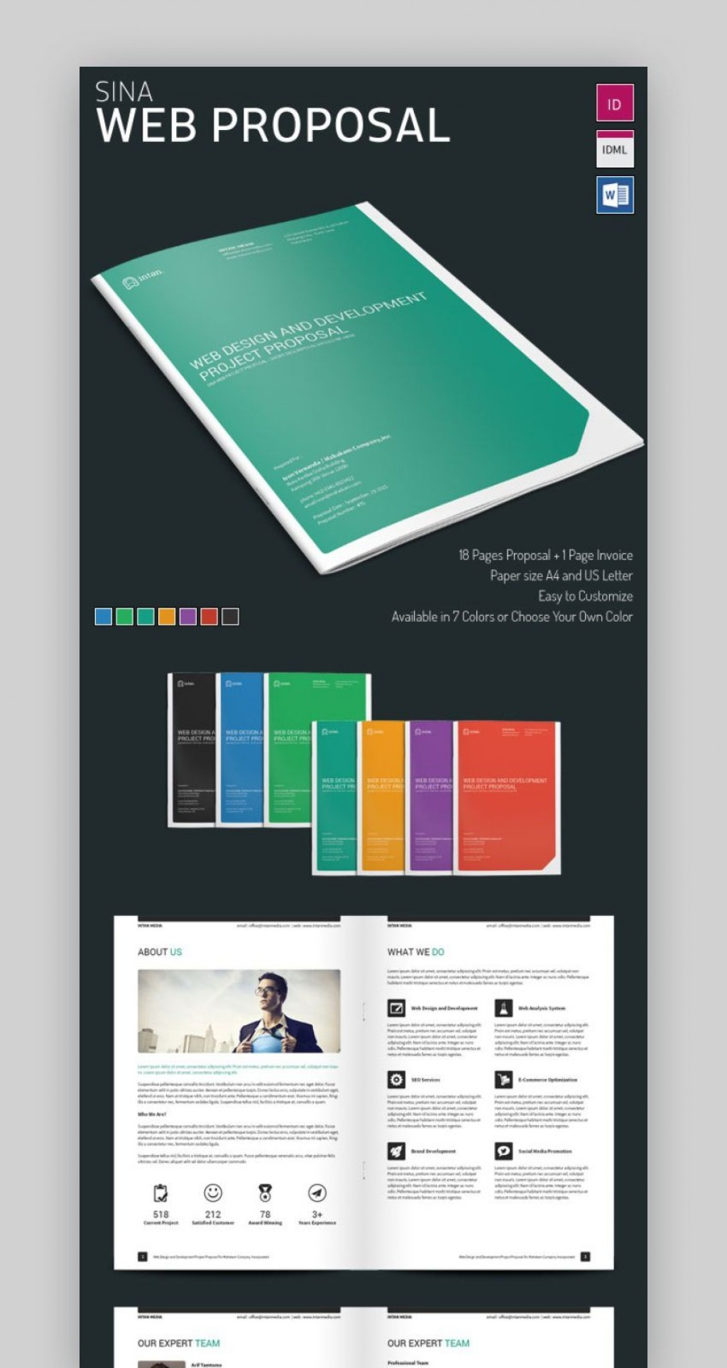 003 Beautiful Website Development Proposal Template Word Sample  FreeLarge