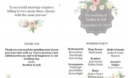 003 Beautiful Wedding Program Template Free Photo  Fan Download Elegant