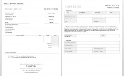003 Beautiful Work Invoice Template Word Picture  Hour