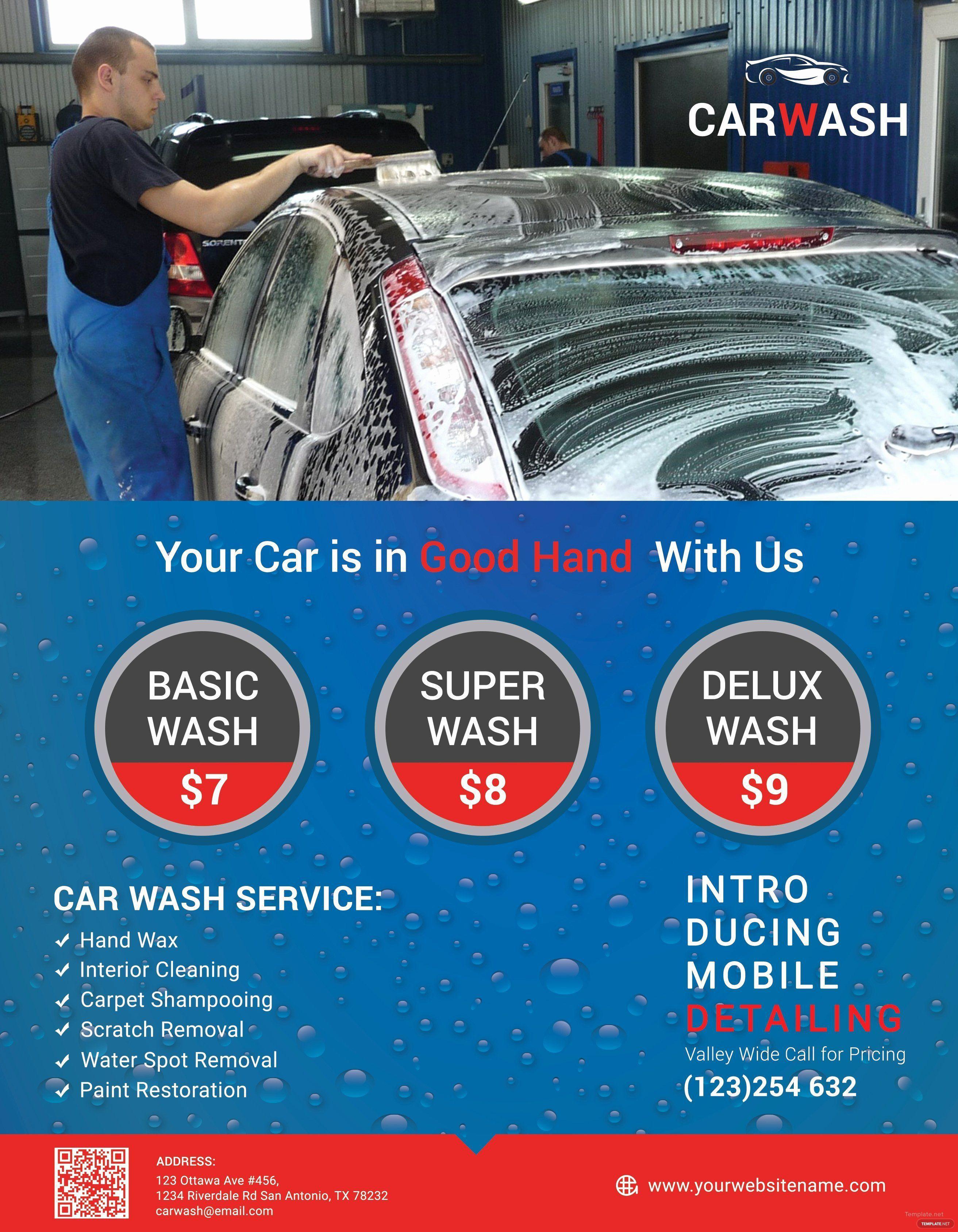 003 Best Car Wash Flyer Template Idea  Free Fundraiser DownloadFull