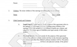 003 Best Child Custody Agreement Template Photo  Form Ontario California Visitation Uk