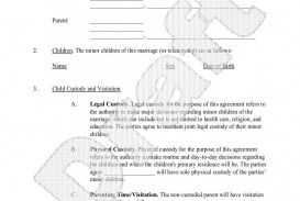 003 Best Child Custody Agreement Template Photo  Texa Nj Uk