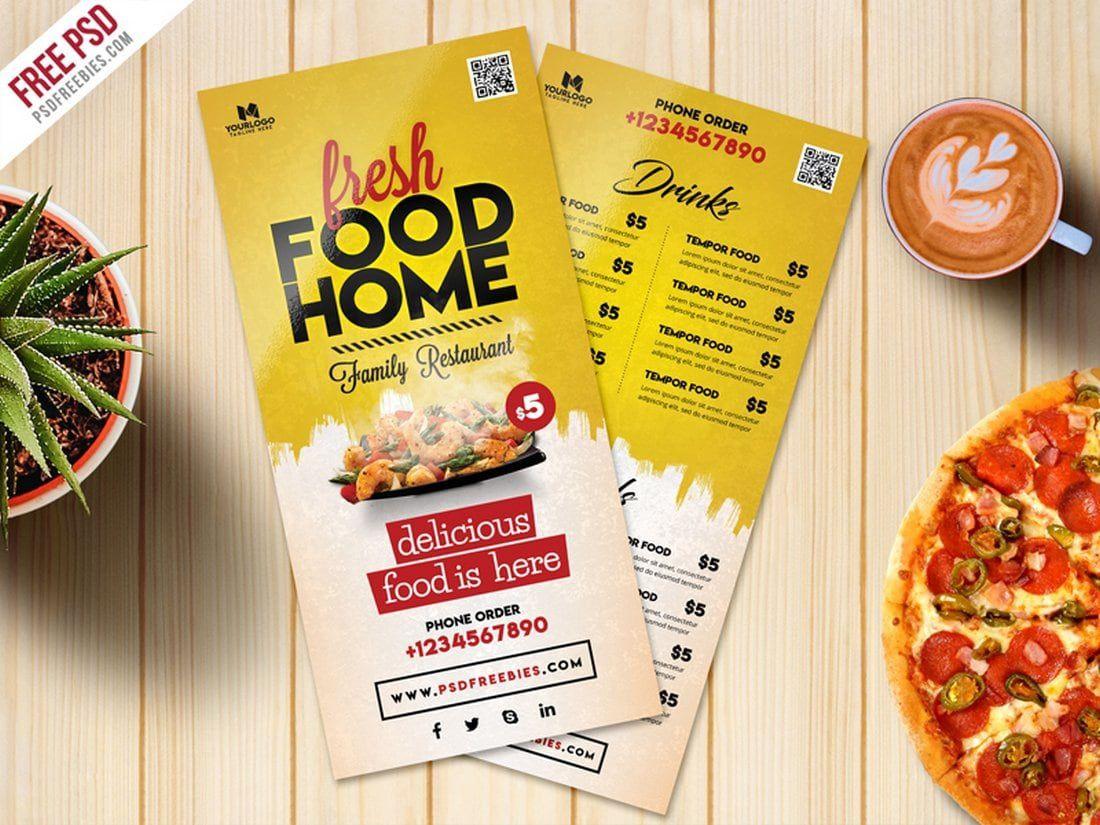 003 Best Food Menu Card Template Free Download High Resolution Full