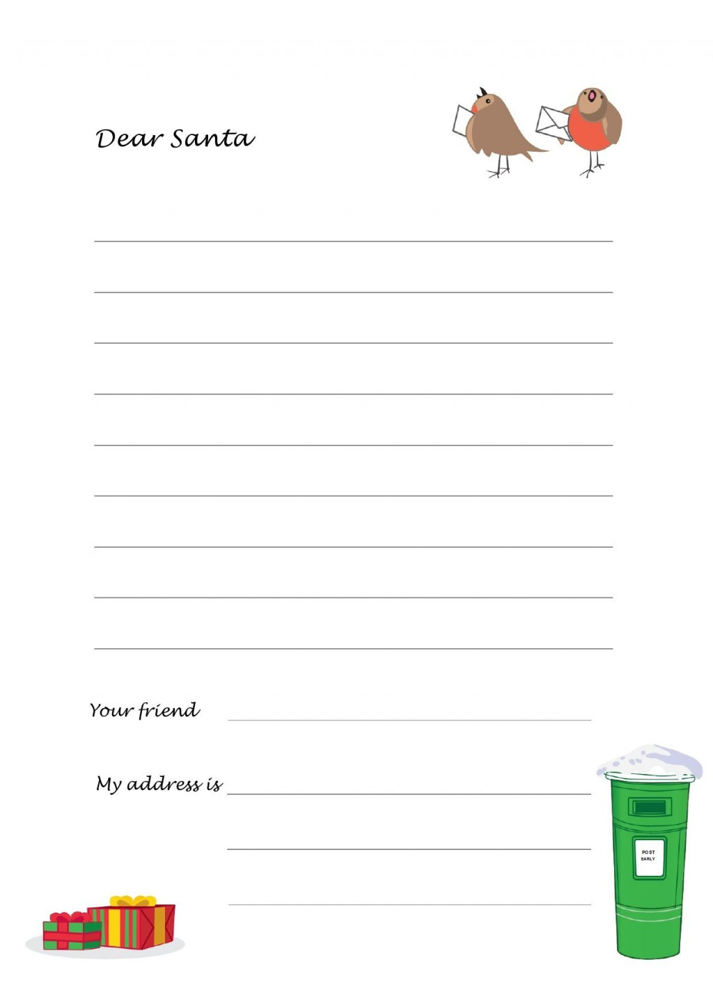 003 Best Free Christma Letter Template For Microsoft Word High Resolution  Downloadable NewsletterLarge