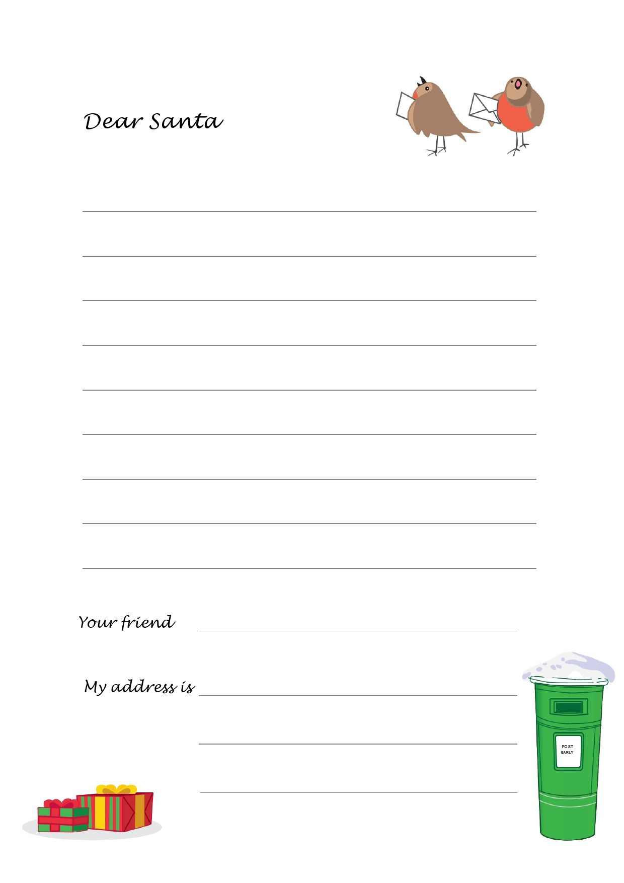 003 Best Free Christma Letter Template For Microsoft Word High Resolution  Downloadable NewsletterFull