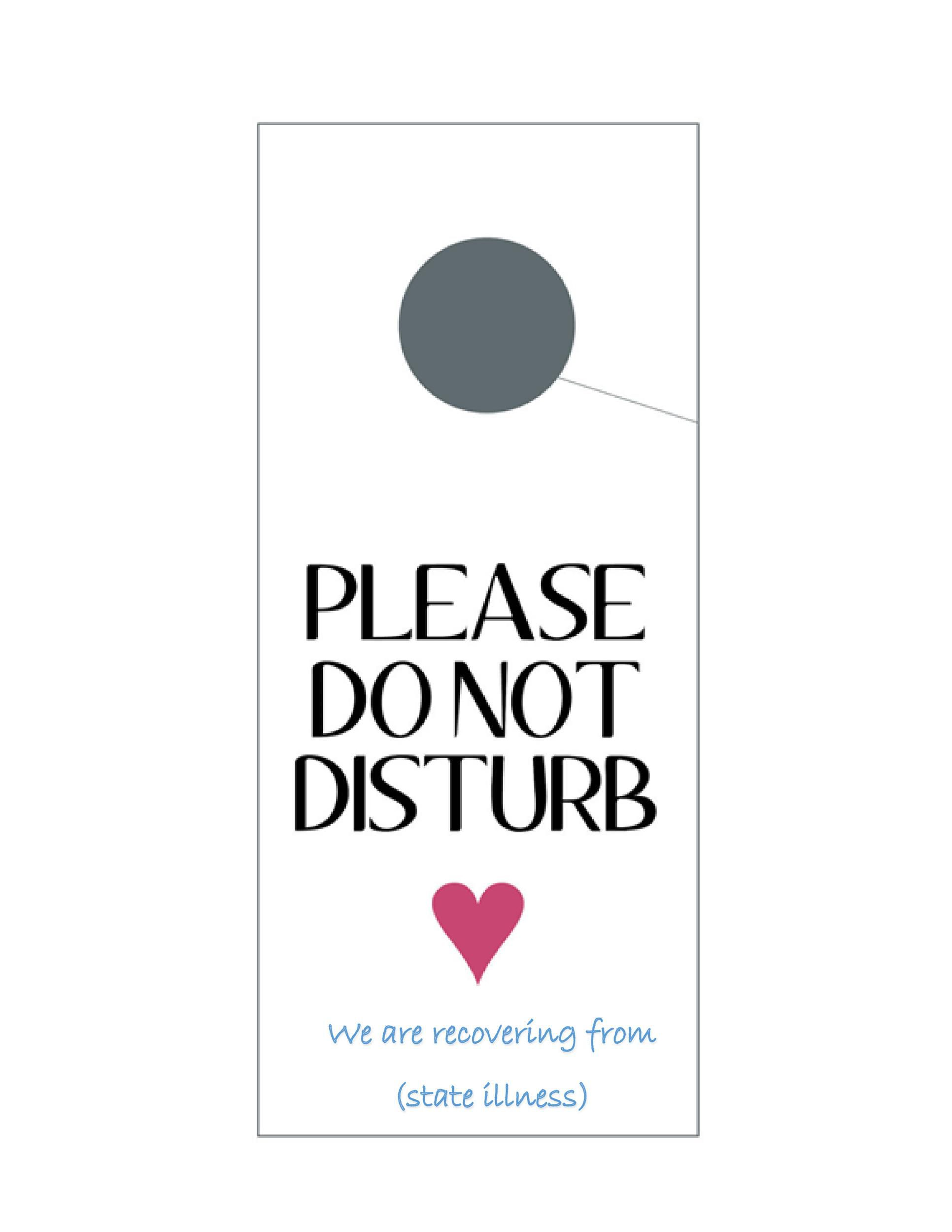 003 Best Free Printable Door Hanger Template Idea  Templates Wedding EditableFull