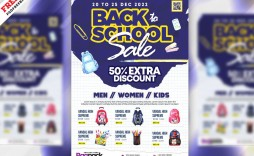 003 Best Free School Flyer Template Psd Concept  Brochure Download Back To