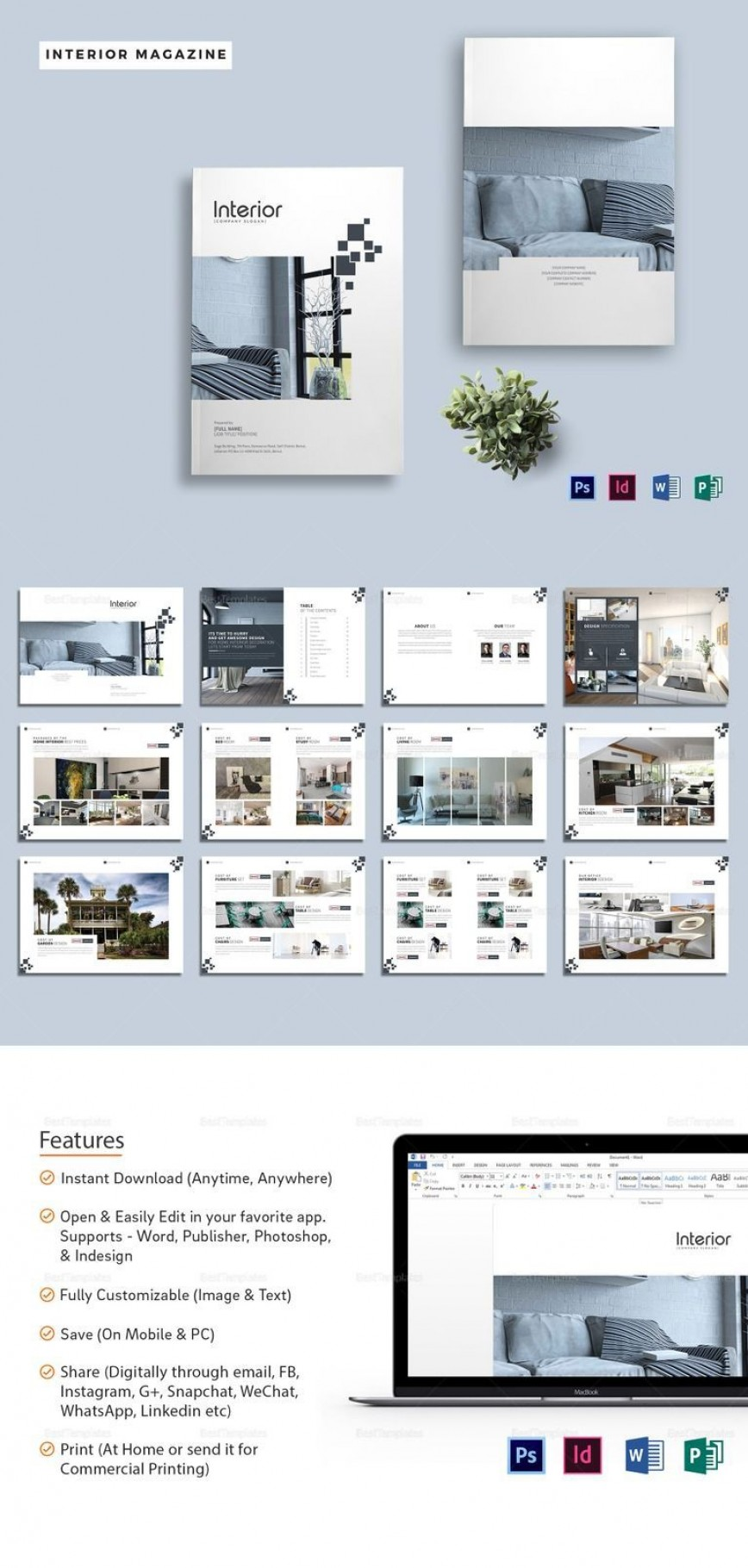 003 Best Magazine Template For Microsoft Word Picture  Layout Article Free