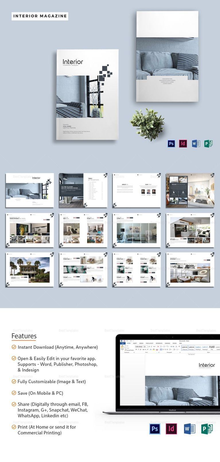 003 Best Magazine Template For Microsoft Word Picture  Layout Design DownloadFull