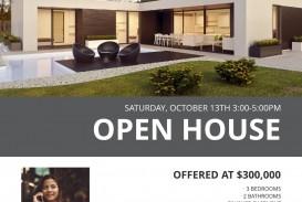 003 Best Open House Flyer Template Design  Word Free School Microsoft