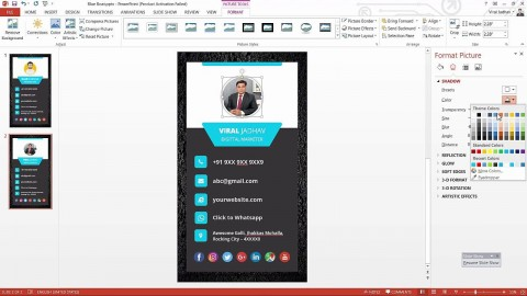 003 Best Powerpoint Busines Card Template Example  Ppt Create480