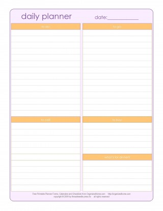 003 Best Printable Daily Schedule Template Inspiration 320