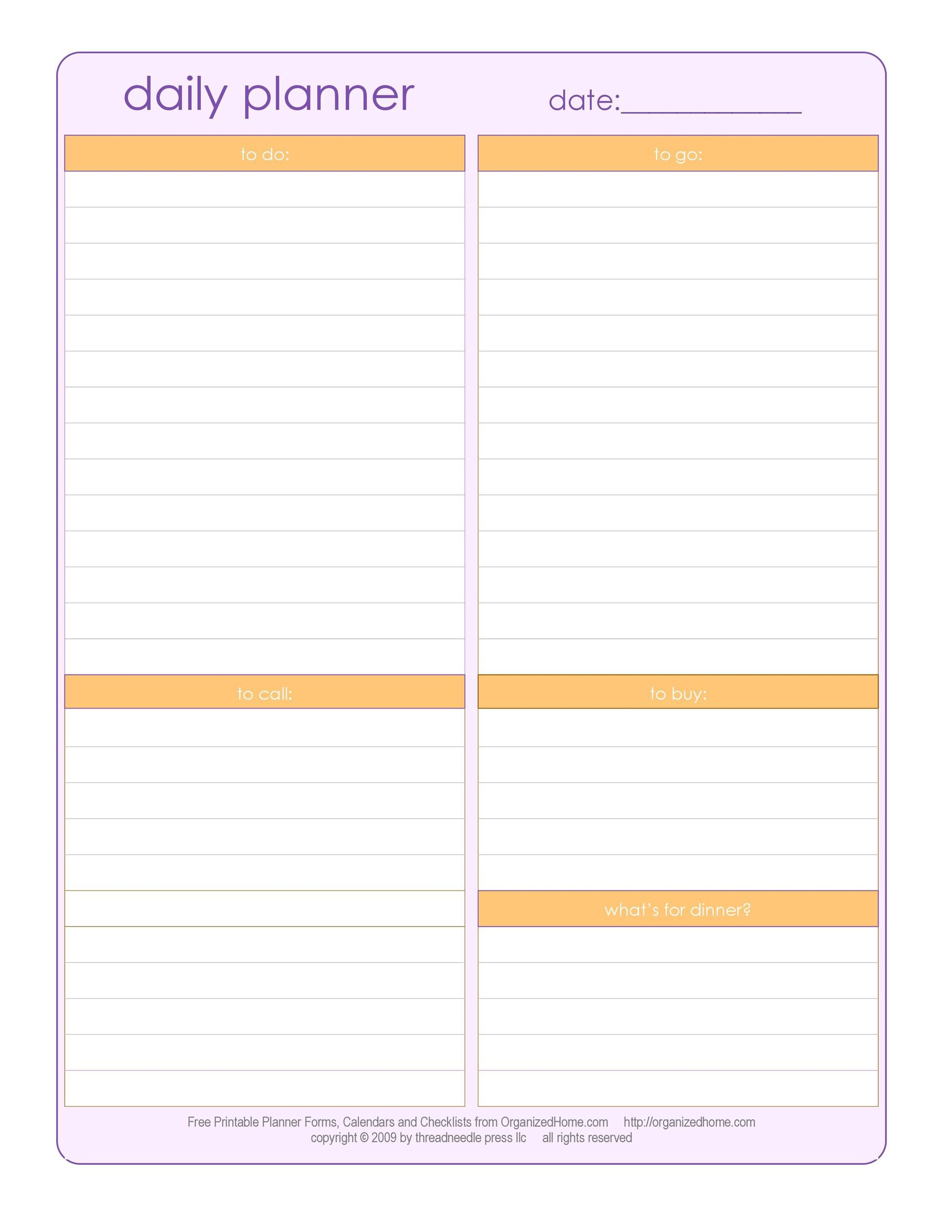 003 Best Printable Daily Schedule Template Inspiration Full