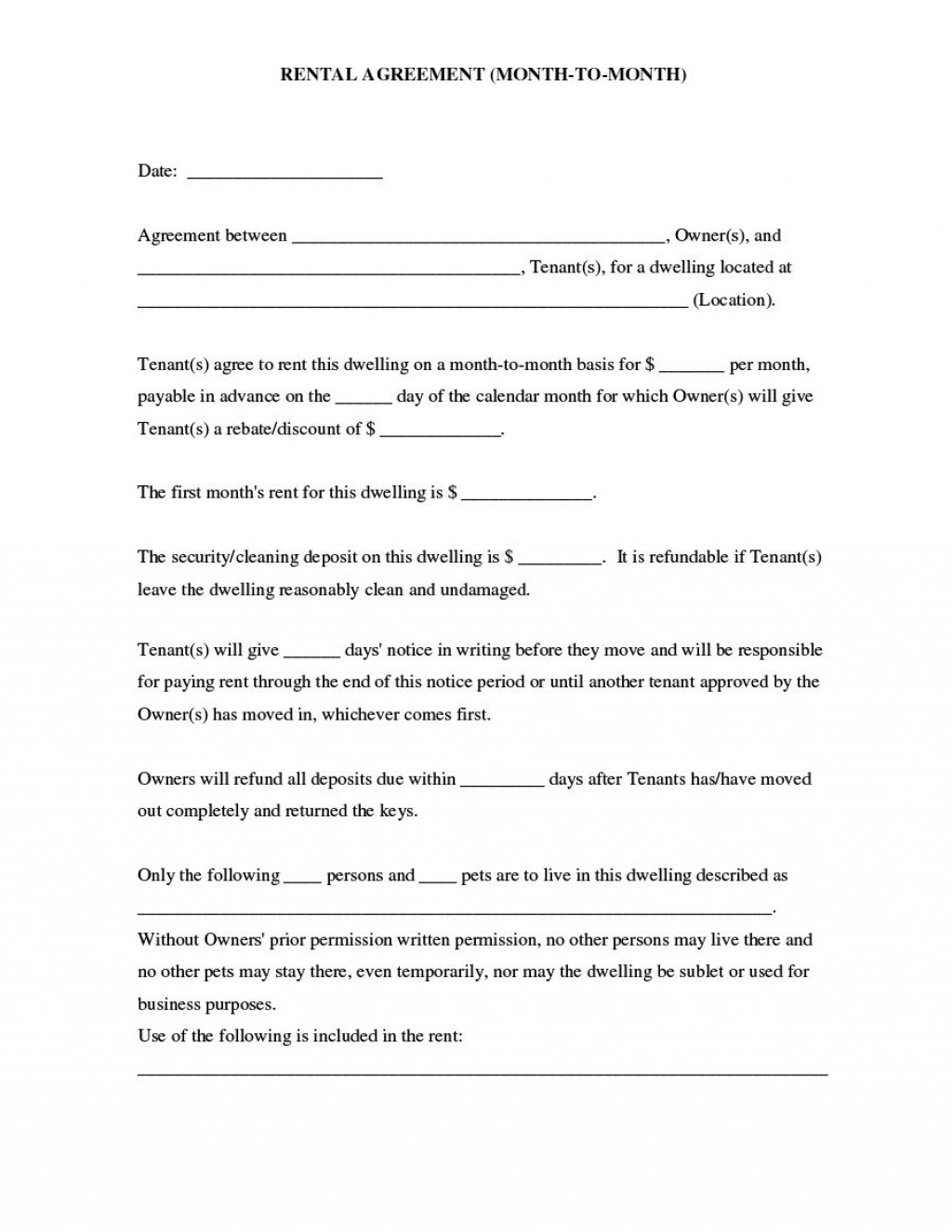 003 Best Room Rental Agreement Template Uk Free High Resolution  Word DocLarge
