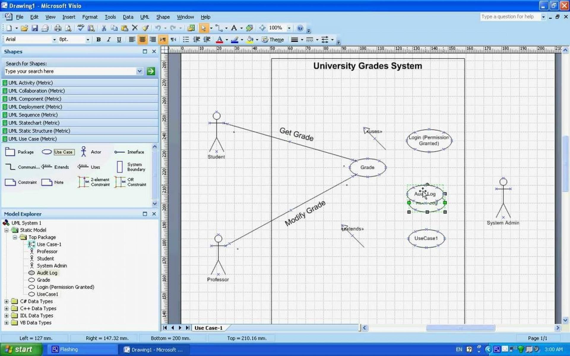 003 Best Uml Diagram Template Visio 2010 Design  Model Download Clas1920