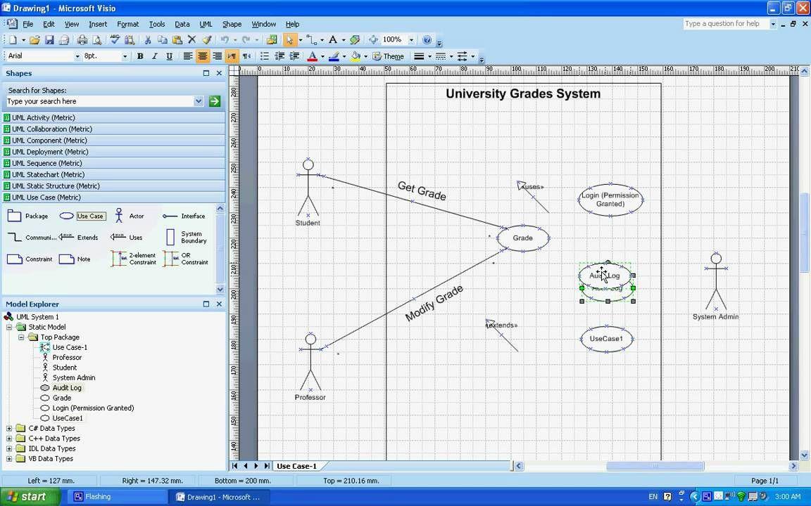 003 Best Uml Diagram Template Visio 2010 Design  Model Download ClasFull