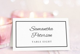 003 Best Wedding Name Card Template Highest Clarity  Seating Chart Place Free