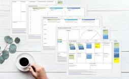 003 Breathtaking Busines Model Canva Template Excel Deutsch Concept