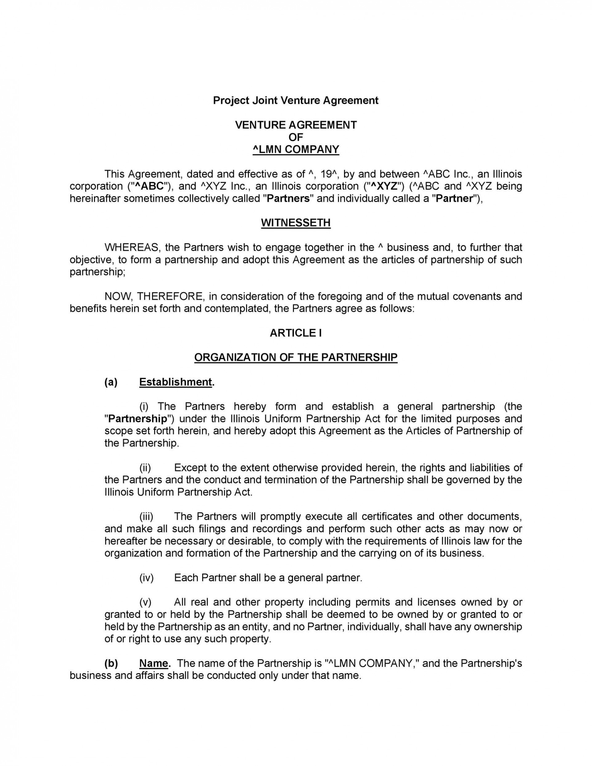 003 Breathtaking Contractual Joint Venture Agreement Template Uk Highest Quality 1920