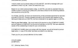 003 Breathtaking Final Payment Demand Letter Template High Resolution  Sample