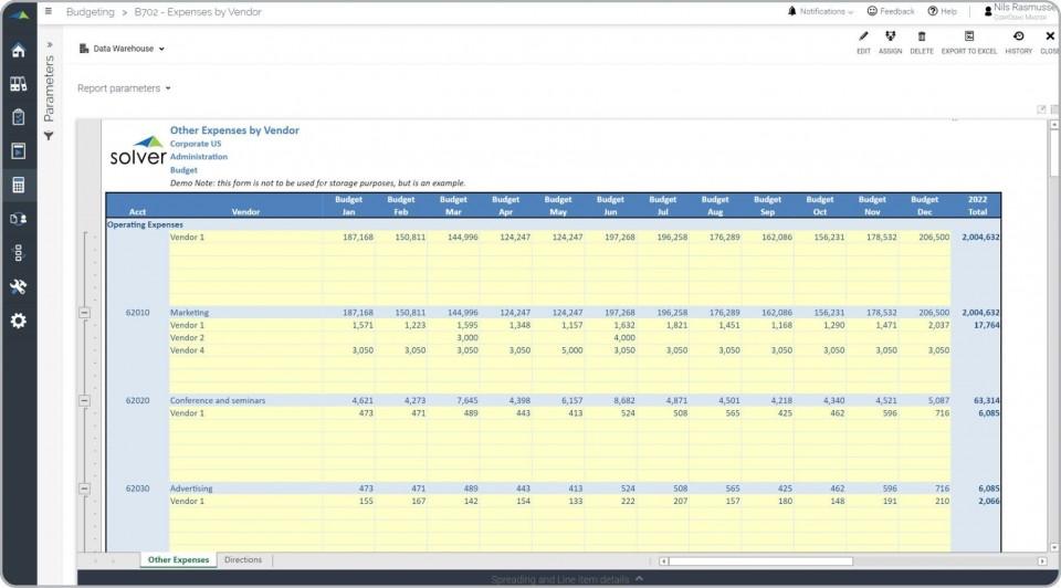 003 Breathtaking Line Item Budget Template Excel Design 960