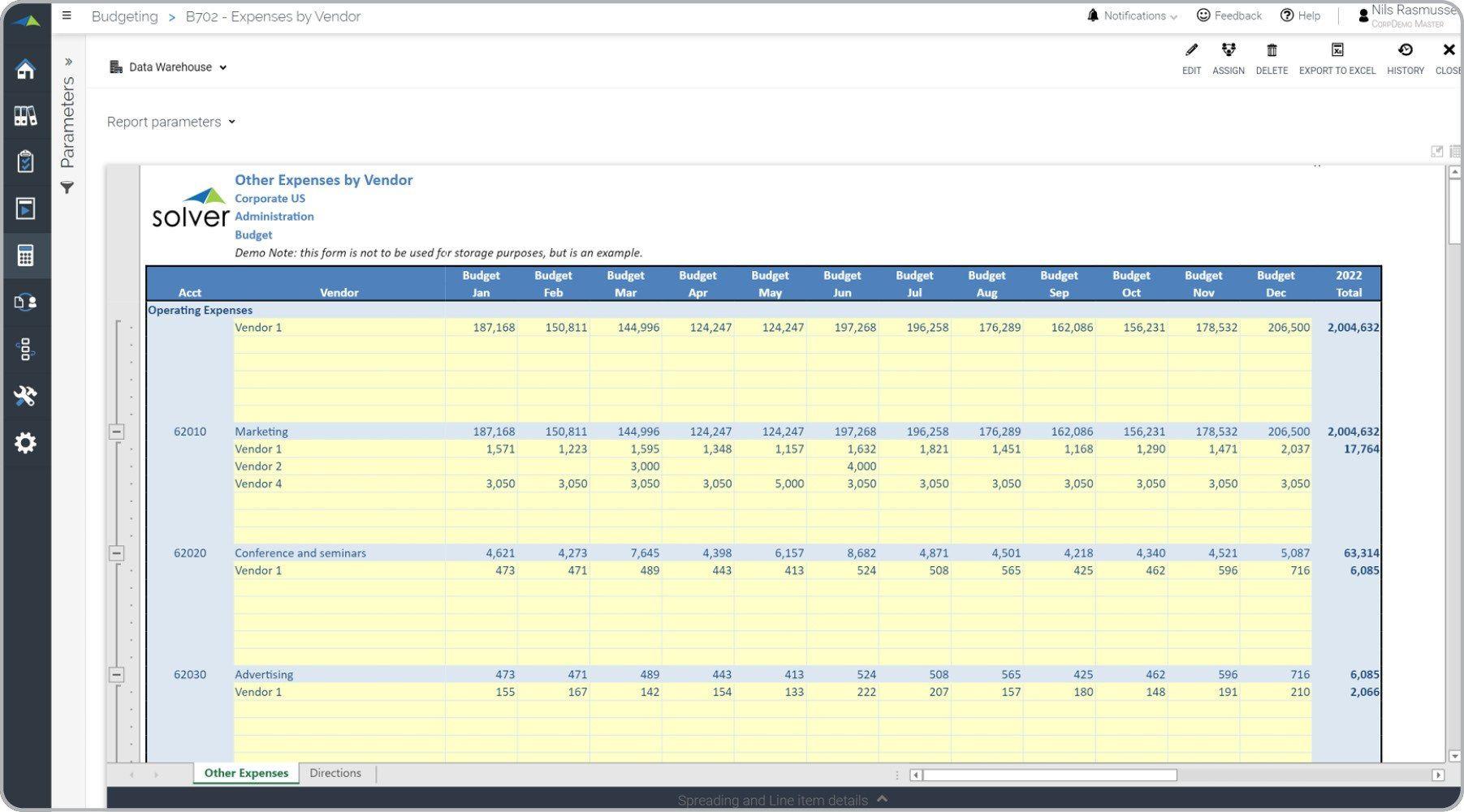 003 Breathtaking Line Item Budget Template Excel Design Full