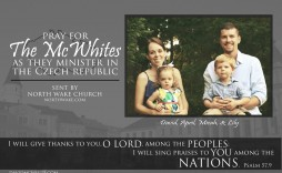003 Breathtaking Missionary Prayer Card Template Picture  Free