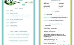 003 Breathtaking Printable Event Program Template High Definition  Free Download