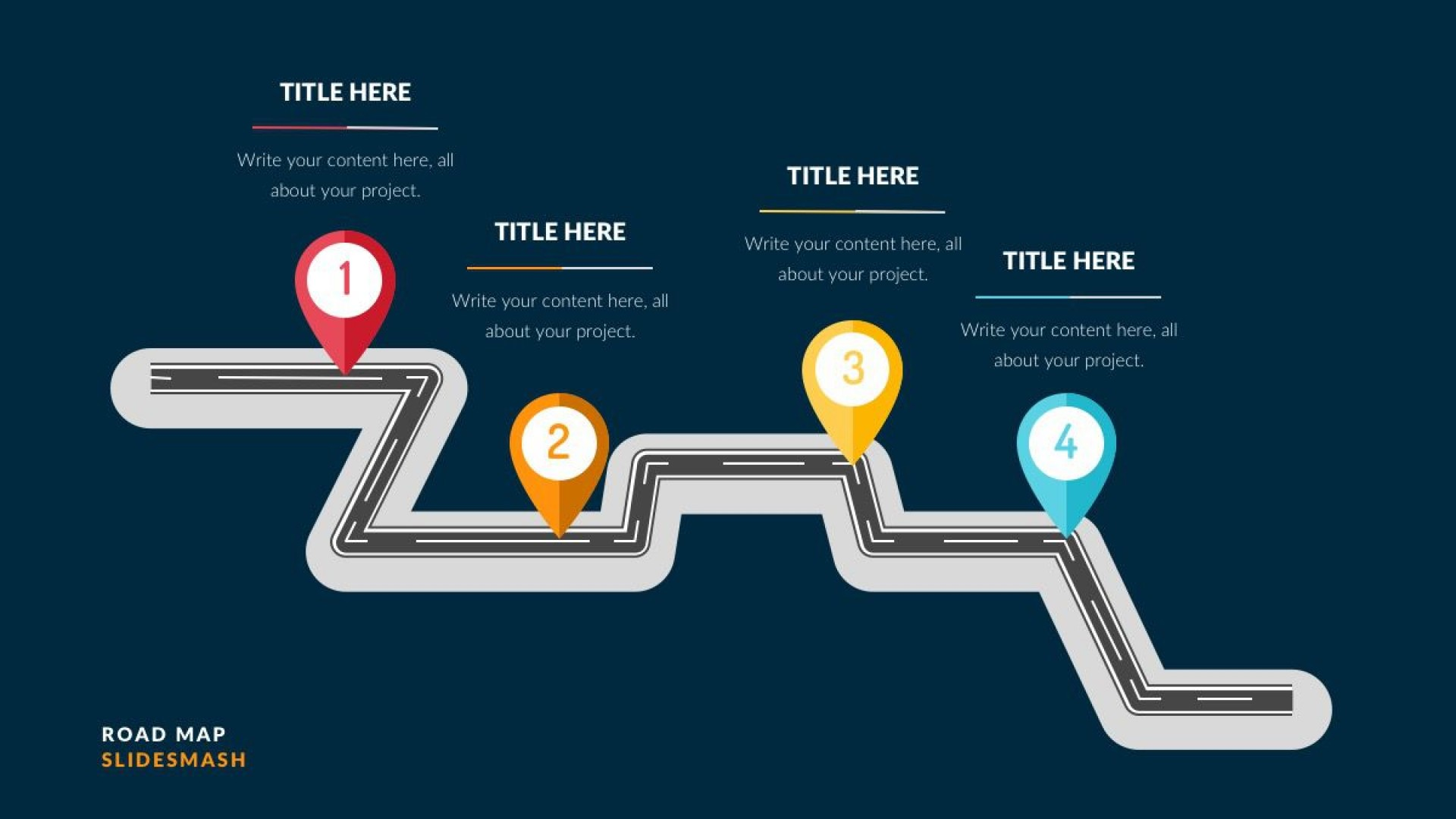 003 Breathtaking Road Map Template Powerpoint Picture  Roadmap Ppt Free Download Product1920